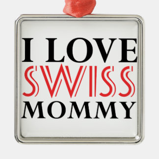 SWISS Design Metal Ornament