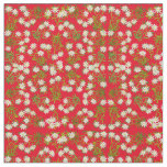 Swiss Edelweiss Mountain Flowers Fabric