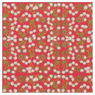 Swiss Edelweiss Mountain Flowers Fabric