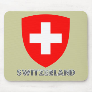 Swiss Emblem Mouse Pad