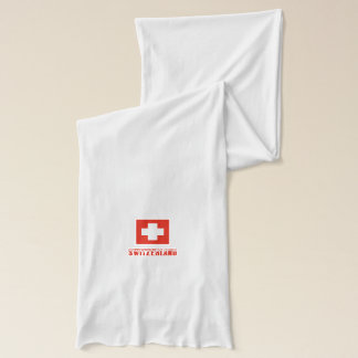 Swiss Flag and Switzerland Word Scarf