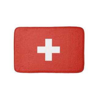 Swiss flag bath mat | Switzerland bathroom rug