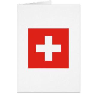 Swiss Flag Card