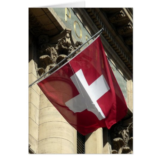 swiss flag cross card