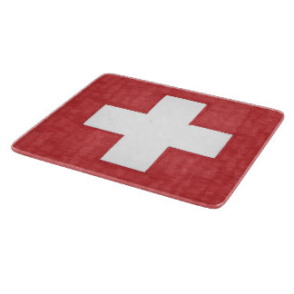 Swiss flag cutting board