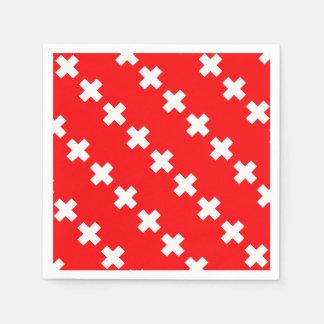 Swiss Flag Disposable Napkins