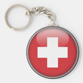 Swiss Flag - Flag of Switzerland Keychain