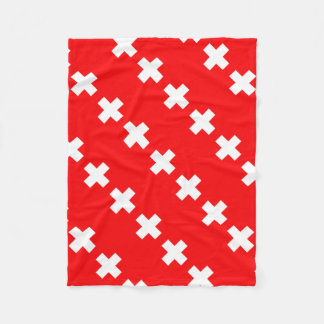 Swiss Flag Fleece Blanket