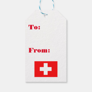 Swiss Flag Gift Tags