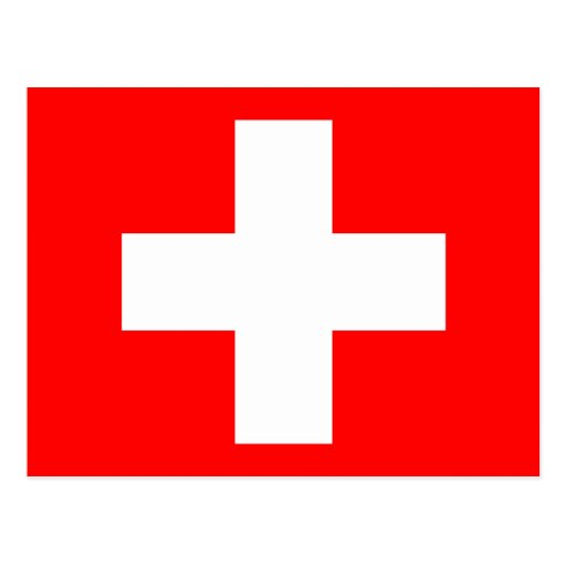 Swiss Flag I Love Switzerland Red and White Post Cards