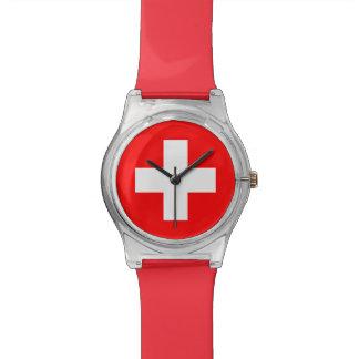 Swiss Flag - I Love Switzerland Watch