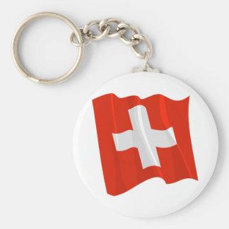 Swiss Flag Keychain