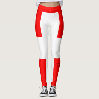 Swiss flag leggings