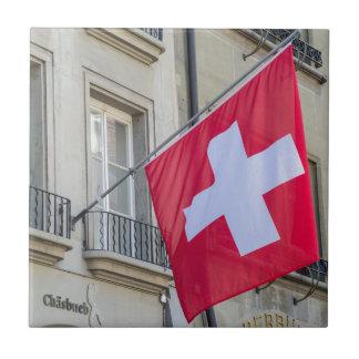 Swiss Flag - Old City of Bern - Switzerland Tiles