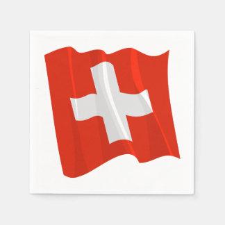 Swiss Flag Paper Napkins