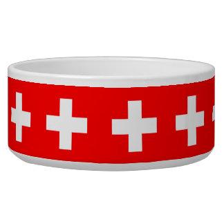 Swiss Flag Pet Bowl