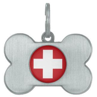Swiss Flag Pet Name Tag
