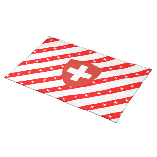 Swiss flag placemat