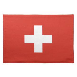 Swiss flag placemat | Switzerland cross