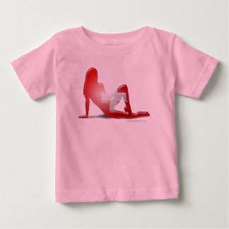 Swiss Girl Silhouette Flag Baby T-Shirt