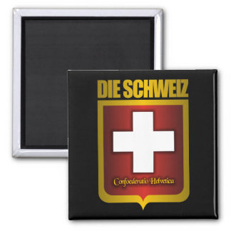 """Swiss Gold"" Square Magnet"