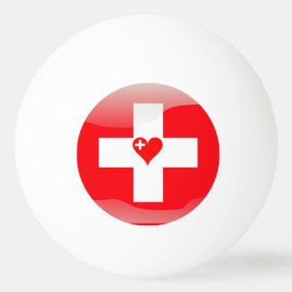 Swiss heart ping pong ball