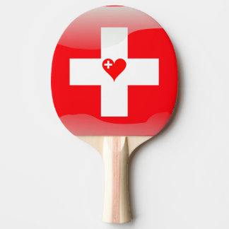 Swiss heart ping pong paddle