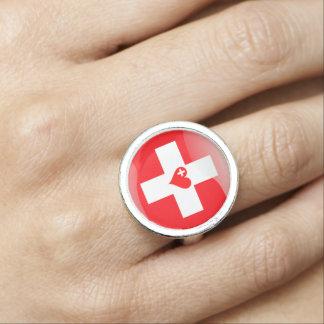Swiss heart rings