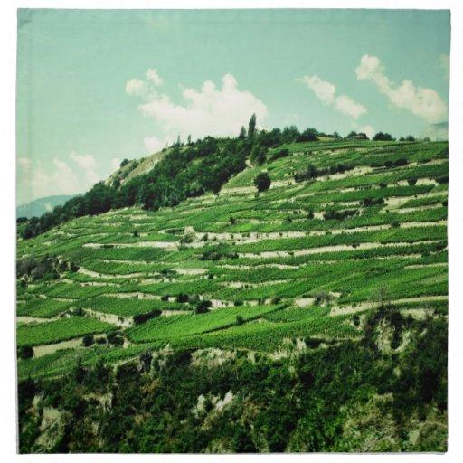 Swiss Hillsides Cloth Napkin