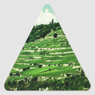 Swiss Hillsides Triangle Sticker