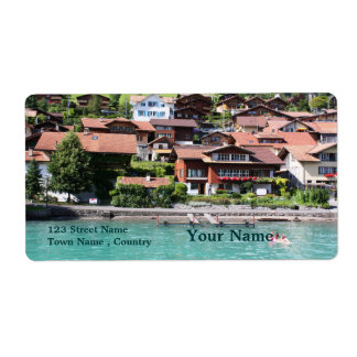 Swiss houses shipping label