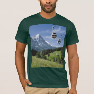 Swiss Images - Grindelwald cablecars T-Shirt