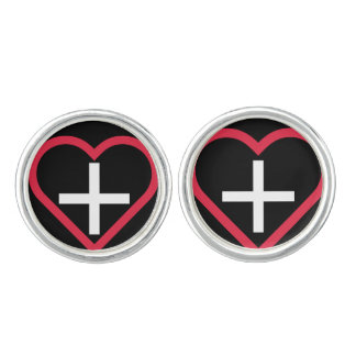 Swiss-inspired Heart Cuff Links
