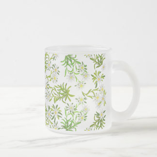 Swiss Mountain Edelweiss Flowers Frosted Mug