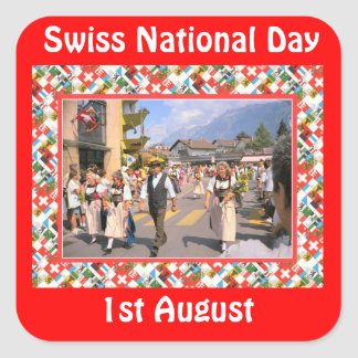 Swiss National Day, 1st August Stickers