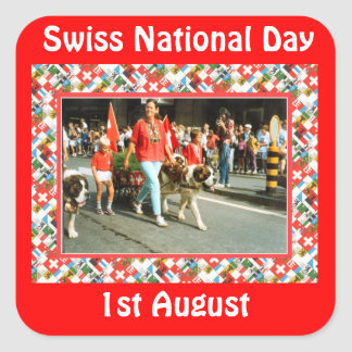 Swiss National Day, 1st August Square Sticker