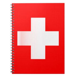 Swiss National Flag Notebooks