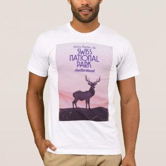 Swiss national park vintage travel poster T-Shirt