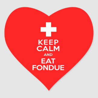 Swiss Party! Keep Calm and Eat Fondue! Stickers