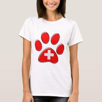 Swiss patriotic cat T-Shirt