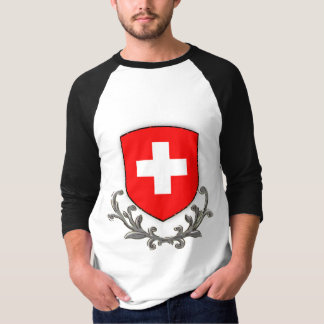 Swiss Scroll 3/4 Raglan T-Shirt