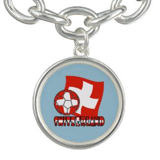 Swiss Soccer Ball and Flag Bracelet