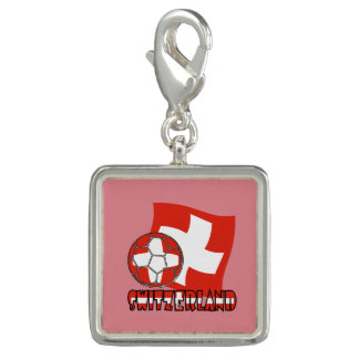 Swiss Soccer Ball and Flag Charms