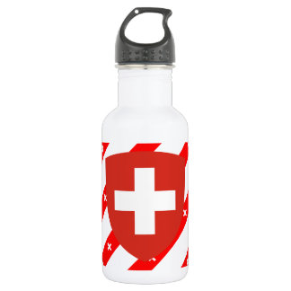 Swiss stripes flag 532 ml water bottle