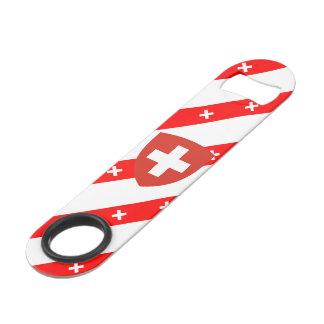 Swiss stripes flag bar key