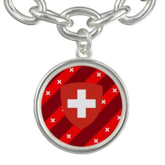 Swiss stripes flag bracelets