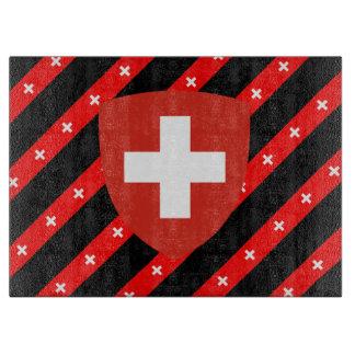 Swiss stripes flag cutting board