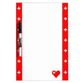 Swiss stripes flag dry erase board