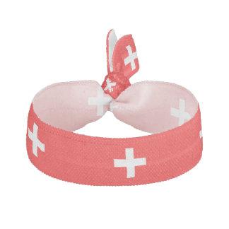 Swiss stripes flag hair tie