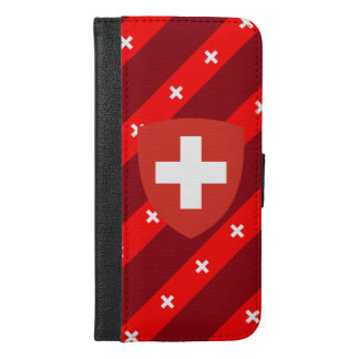 Swiss stripes flag iPhone 6/6s plus wallet case